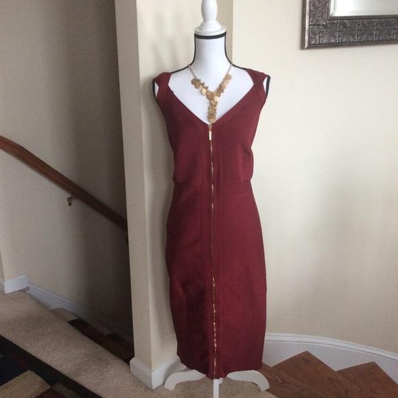 Ashley Stewart Dresses & Skirts - Ashley Stewart Brick Color Bandage Dress